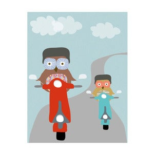 Image of 'Hoot Scoot' Art Print