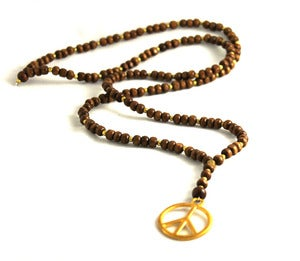 Image of Wooden Peace Rosary