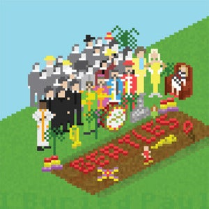 Image of Beatles Pixel Art - Sgt. Peppers Lonely Hearts Club Band