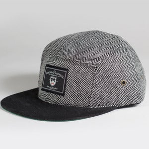 Image of The Academy Tweed classic 5 panel, Black