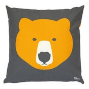 Image of Gold Bear, Silver Bear cushion