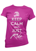 Image of Keep Calm Tee - Pink/White