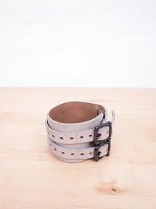 Image of Number (N)ine - Leather Double Strip Cuff Bracelet