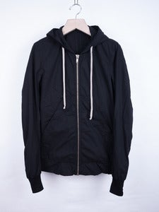 Image of Rick Owens Drkshdw - Double Layer Poplin Hooded Jacket