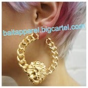 Image of Loyal Lion Hoop Earrings