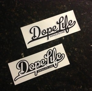 Image of DOPELIFE Script Sticker