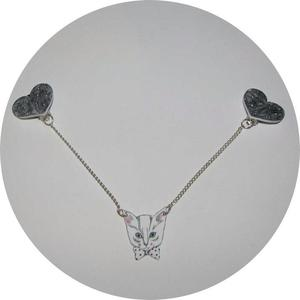 Image of Collar Adornments: Polkadot Hearts and Cats