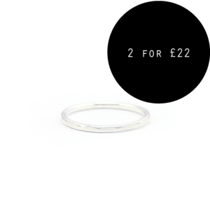 Image of Athena. Sterling Silver Faceted Knuckle Ring