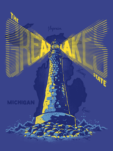 Image of The Great Lakes State - Poster