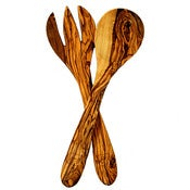 Image of Olive Wood Salad Servers