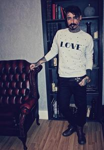 Image of ALICE BOYS Love Print Grey Jumper Love Heart Print