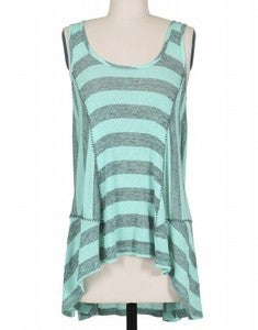 Image of Stitched Stripe Knit Tank