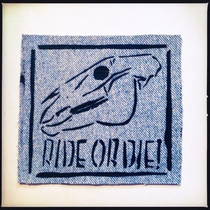 Image of SICK Ride Or Die! Patch - Light blue denim