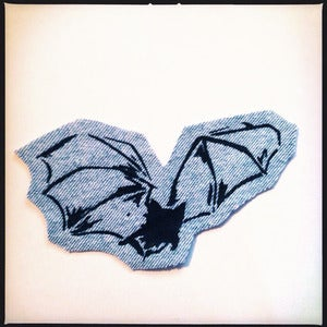 Image of SICK Bat Patch - Light blue denim