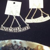 Image of &quot;Love No Hoe&quot; Earrings 