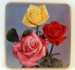 Image of VINTAGE ROSE BOXED TABLE MATS