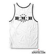 Image of BMB BLACK ON WHITE TANK