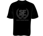 Image of BLACK SOUTHRNFRESH CREST TSHIRT - PREORDER