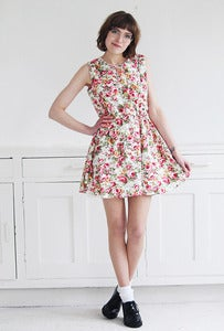 Image of Rosemary Floral Sun Dress