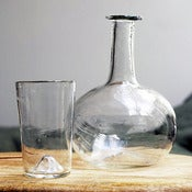 Image of handblown carafe set