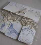 Image of Hand printed gift tags x 15