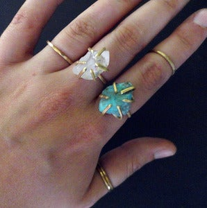 Image of GEMMA SPARKLED LIKE THE STARS - ring (turquoise)