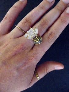 Image of GEMMA SPARKLED LIKE THE STARS - ring (pyrite)