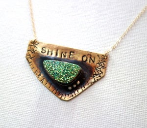 Image of Handmade Shine On Drusy Pendant - OOAK
