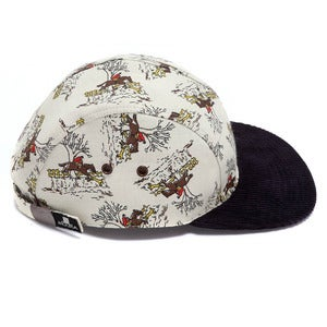 Image of MOUPIA Equestrian Brown/navy 5 panel hat