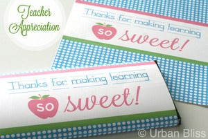 Image of Teacher Printable Candy Bar Wrapper