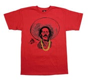 Image of Pancho Villa With Gold Chainz (Red tee)