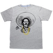 Image of Pancho Villa With Gold Chainz (Grey tee)