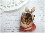 Image of Cat with Bandaged Head Brooch