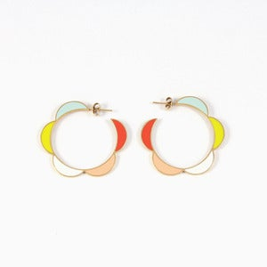 Image of Moonbeam Hoops | Golden Sorbet