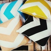 Image of Oversized Chevron Cushion Covers