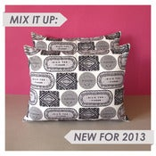 Image of Biscuit Mix Printed Cushion - Cool Monotone