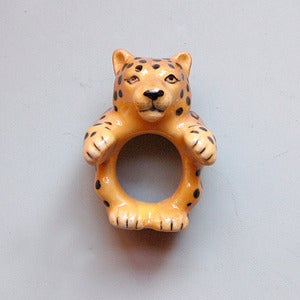 Image of Porcelain White Cheetah Ring by And Mary