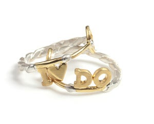 Image of Personalised Key Styled Ring Set NEW