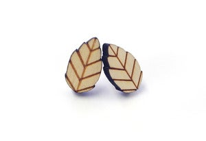Image of Woodland Leaf Earrings