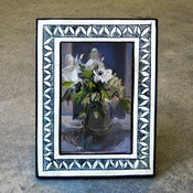Image of painted bone 4x6 frame