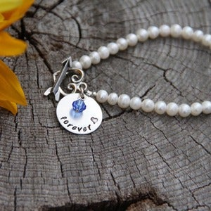 Image of Forever Pearl charm bracelet