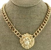 Image of LION FACE CHAIN NECKLACE