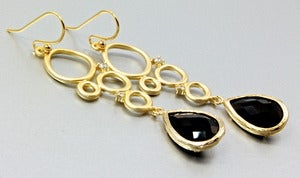 Image of Black Onyx Drop Earrings