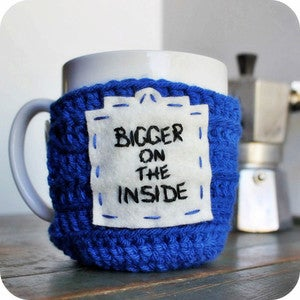Image of Funny Coffee Mug Bigger on the Inside crochet handmade