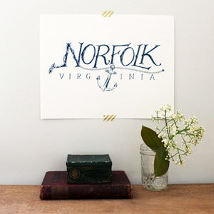 Image of Norfolk, Virginia Print