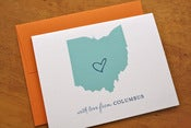 Image of Custom State Love Cards - Orange & Spearmint - Pack of 6