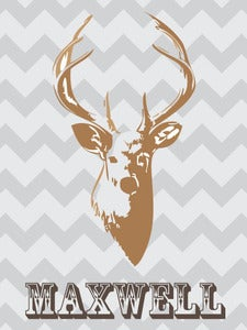 Image of Personalized Deer Print