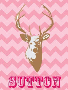 Image of Personalized Deer Print 2