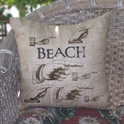 Image of Hands Burlap Pillow