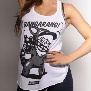 13sg_07  GIRLS BANGARANG RACERBACK TANK TOP